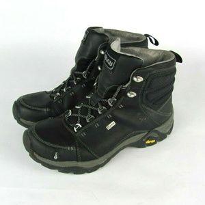 AHNU Nebl Black Leather Waterproof Boots 6.5